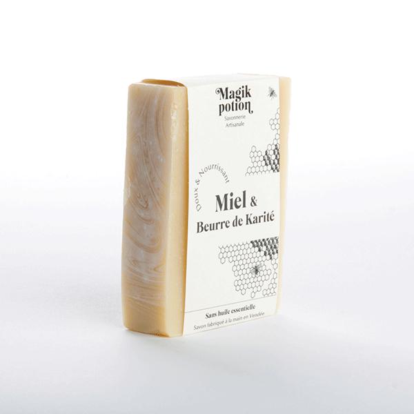 savon artisanal vendée beurre de karité miel