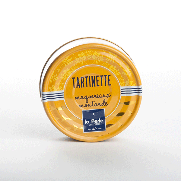 tartinette maquereaux à la moutarde